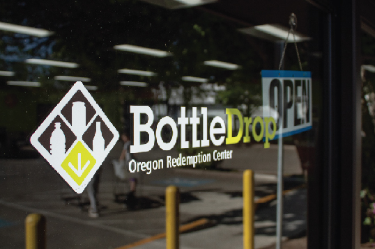 Glass Storefront of a BottleDrop Redemption Center