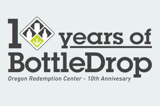 10 years of BottleDrop logo